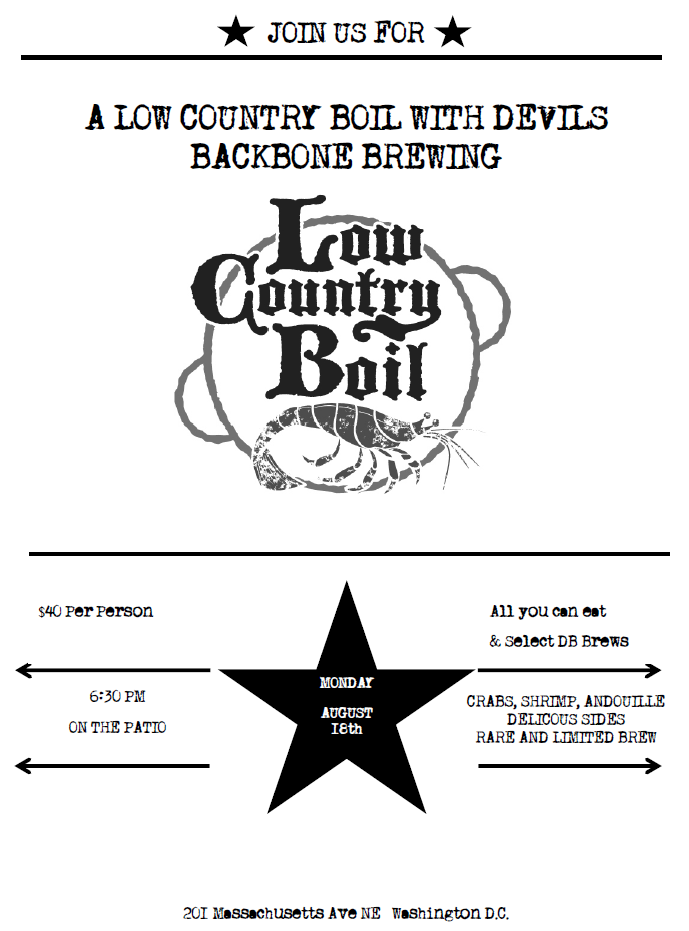 DB Low Country Boil Flyer
